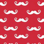 Geekly Mustache Small Red