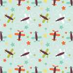 Riley Blake Designs - Boy Planes in Blue
