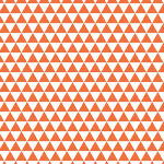 Riley Blake Designs - Boy Triangles in Orange