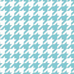 Riley Blake Designs - Medium Houndstooth in Aqua