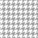 Riley Blake Designs - Medium Houndstooth in Gray