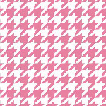 Riley Blake Designs - Medium Houndstooth in Hot Pink