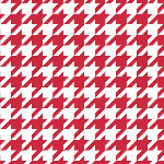 Riley Blake Designs - Medium Houndstooth in Red