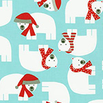 Jingle - Polar Bears in Aqua