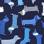 Urban Zoologie - Dachshunds in Navy