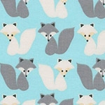 Woodland Pals 2 - Foxes in Aqua