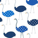 Urban Zoologie - Ostriches in Blue