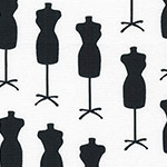 Sewing Studio 2 - Dressmaker's Mannequins in Black