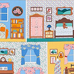 Penny's Dollhouse - Vintage Dollhouse Panel