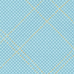 Collection CF - Tartan Single Border in Dusty Blue Metallic