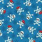 Fabulous Foxes - Crossbones in Blue