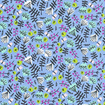 Wild and Free - Jungle Floral in Periwinkle