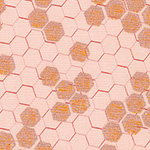 Spring Shimmer - Honeycomb in Blush