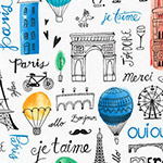 Paris Adventure - Landmarks and Text in Multi