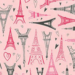 Paris Adventure - Eiffel Tower in Pink