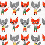 Suzy's Minis - Mini Foxes in White