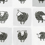 Wooley Sheep - Sheep Panels in Grey