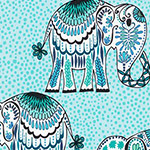 Jules and Indigo - Large Elephants in Cobalt