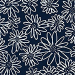 Blueberry Park - Scruffy Daisy in Indigo