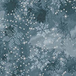 Sugar Plum - Snowflakes in Midnight Metallic