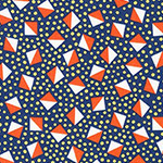 London Calling 6 - Geometric in Navy
