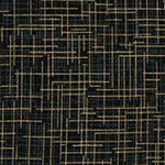 Quilter's Linen - Metallic in Black