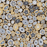 Gustav Klimt - Millefiori in Grey Metallic