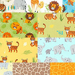 Wild Adventure - 10 Fat Quarter Bundle