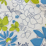 Floral Garden - Floral in White/Blue