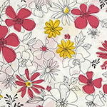 Floral Garden - Floral in White/Pink