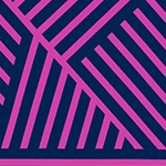 Mostly Manor - Manor Stripe in Magenta on Indigo
