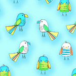 Koala Party - Small Birds in Turquoise