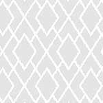 Bee Happy - Broken Chevron in Light Gray