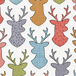 Novelties - Deer Head Silhouettes in White