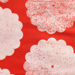 Flowers - Roundflowers in Kimono Red & Baby Momo