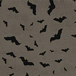 Something Wicked - Bats in Dark Gray