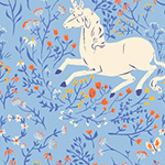Heather Ross 20th - Unicorn in Blue