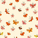 Tiger Lily - Butterflies in Cream
