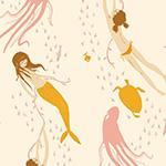 Heather Ross 20th - Underwater Sisters in Pink