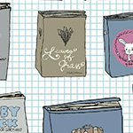 Literary - Books on Squared Paper in Light Blue
