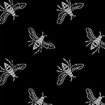 Precious Metal - Bees in Black and Silver
