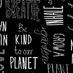 Love the Earth - Typography in Black