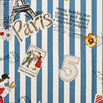 Live Life - Paris Travel on Blue Stripes