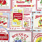 30's Collection - Fruit Label in White