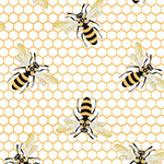 Devonstone Queen Bee - Bee Swarm in White