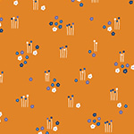 Floral Splendor - 50's Floral in Orange