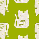 Cats and Dogs - Cats in Green