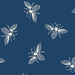 French Bee - Bees in Indigo