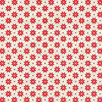 Scandi Basics - Nordic Snowflake in Red on Cream