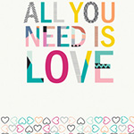Letters CAPSULES - All You Need is Love (60cm Panel)